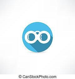 binoculares, icono