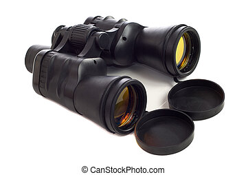 Binoculars - A set of binoculars with coated lens, shot on a...