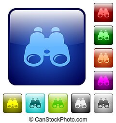 Binoculars color square buttons