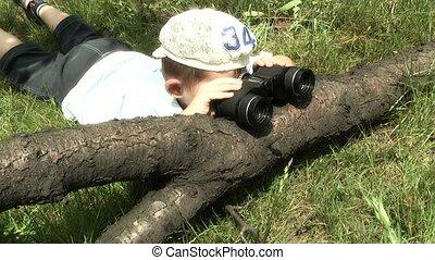 Binoculars, - Exploration,