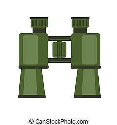 Binoculars, field glasses. Vector icon illustration isolated on white background.