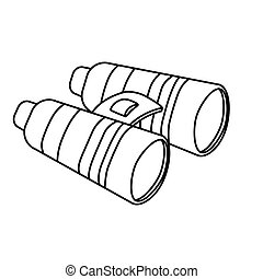 Binoculars figure military equipment icon image