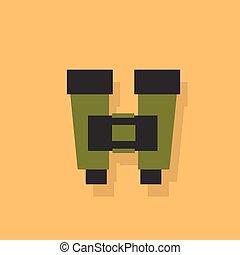 binoculars flat icon design vector illustration