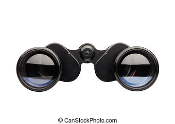 binoculars front view isolated on white