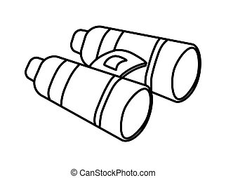 binoculars icon. Armed forces design. graphic vector