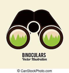binoculars icon design, vector illustration eps10 graphic