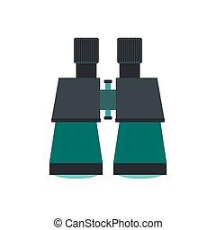 Binoculars icon flat