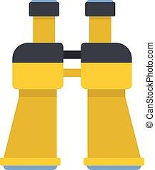Binoculars icon, flat style