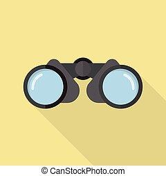 Binoculars icon flat style
