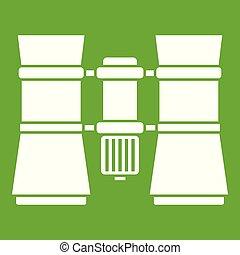 Binoculars icon green