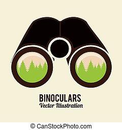 binoculars icon design, vector illustration eps10 graphic