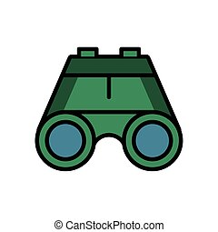 binoculars military force isolated icon