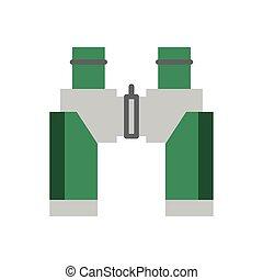 binoculars military force isolated icon