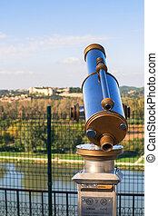 Binoculars, observation platform