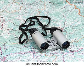 Binoculars on the map