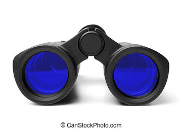 Binoculars on white background