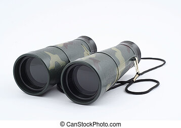 binoculars on white