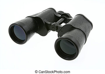 binoculars on white