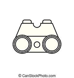 binoculars optical accessory isolated icon