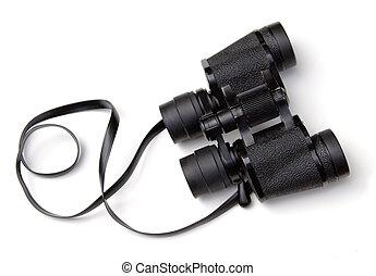 Binoculars - Pair of binoculars on a white background