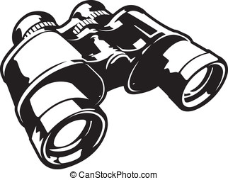 Binoculars - This is a vector graphic of a pair of...