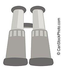 Binoculars vector cartoon illustration.