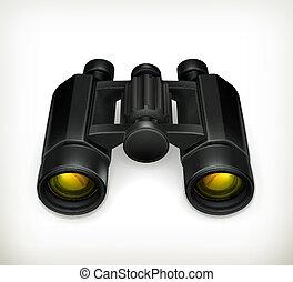 Binoculars, vector