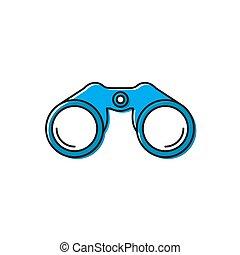 Binoculars vector icon illustration design isolated on white