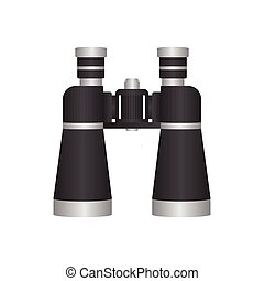 Binoculars vector illustration isolated on white background