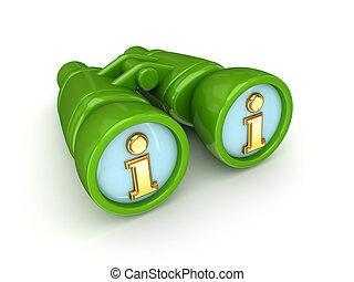 Binoculars with Info symbol.
