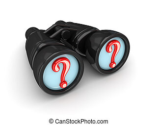 Binoculars with query symbols.