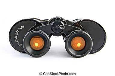 binoculars with yellow filter