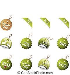 bio , και , eco, icons/labels