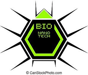 bio, シンボル, 技術, nano