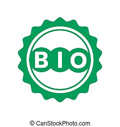 bio, タグ, 緑, ステッカー, ラベル, プロダクト, icons.