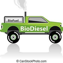 bio, ピックアップ, ディーゼル, トラック