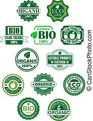 bio, ラベル, 自然
