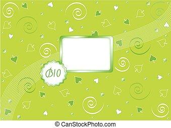 bio, 緑の背景