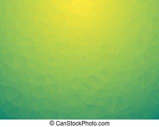 bio, 緑, 低い, poly, 背景
