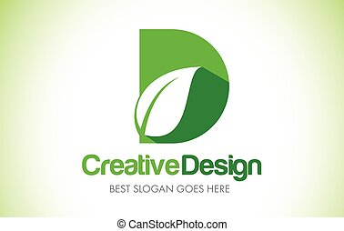 bio, 葉, d, eco, イラスト, デザイン, 手紙, 緑, logo., アイコン