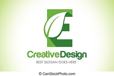 bio, 葉, eco, イラスト, 緑, 手紙, デザイン, logo., e, アイコン