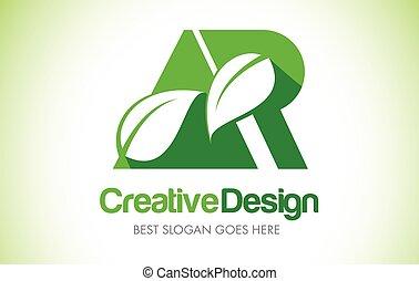 bio, 葉, eco, イラスト, ar, デザイン, 手紙, 緑, logo., アイコン