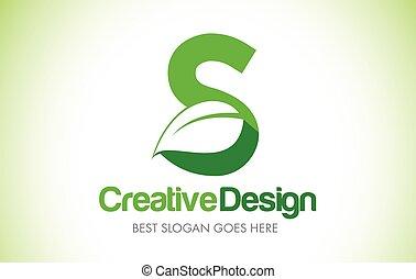 bio, 葉, eco, イラスト, s, 緑, 手紙, デザイン, logo., アイコン