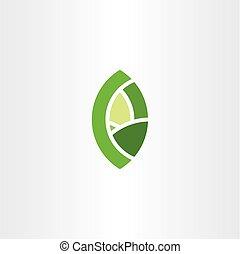bio, 葉, eco, シンボル, 要素, 緑, ロゴ, 印, アイコン