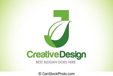 bio, 葉, eco, j, イラスト, デザイン, 手紙, 緑, logo., アイコン