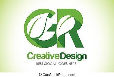 bio, 葉, gr, eco, イラスト, デザイン, 手紙, 緑, logo., アイコン