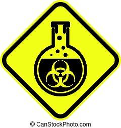 bio, 警告, 危険標識