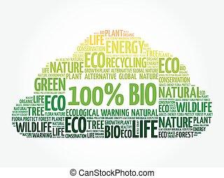 bio, 100%, 単語, 雲