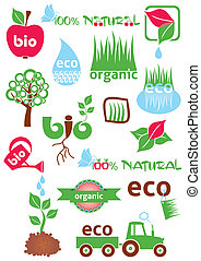 Bio and eco icons
