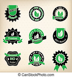 Bio badge design set